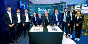 Célébration de la signature du naming Groupama Stadium